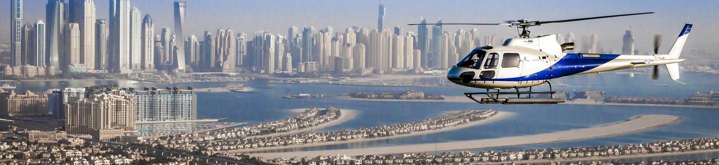 Helikopteres városnézés Dubaiban